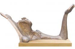 L'attesa, 1980, bronzo (fronte) cm h 70x90x30