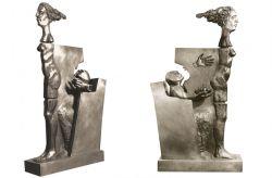 Avant la torture - Marat, 1974, bronzo, (lato 1) cm 160 x 40 x 85