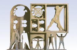 Gli eroi son pronti, 1970, bronzo, cm 100 x 129 x 35