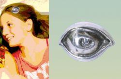 Occhio, fermacapelli, argento, mm h 30 x 42 x 12