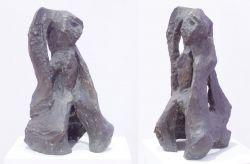 Scultura, 1963, bronzo (fronte e lato) cm h 70 x 50 x 40, GAM, Galleria d'Arte Moderna di Torino