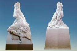 Essere è farsi, 1982-86, marmo bianco di Carrara (fronte e retro) cm 150 x 80 x 30