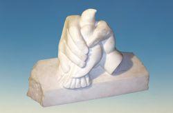Frammento, 1994, marmo bianco di Carrara cm h 36 x 56 x 18, Collezione Comunale, Buti, Pisa