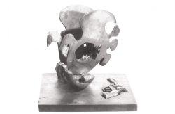 In attesa di... , 1973, bronzo, cm 30 x 30 x 30
