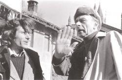con lo scrittore e pittore Pierre Klossowski, Abazia San'Antonio di Ranverso 1976