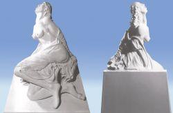 Essere è farsi, 1994, gesso (fronte e retro) cm 150 x 80 x 30, Museo dei Bozzetti, Pietrasanta, Lucca