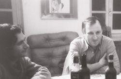 con lo psicolinguista e poeta Piero Amerio, Rivoli 1976