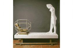 Naissance, 1977-1981, marmo, bronzo e acciaio, (lato 1) cm 180 x 190 x 70