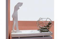 Naissance, 1977-1981, marmo, bronzo e acciaio, (lato 2) cm 180 x 190 x 70