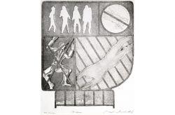 Il sogno, 1969, acquaforte e acquatinta, mm 286 x 245