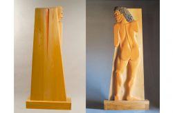 La ferita, 1980, legno (fronte e retro), cm 182 x 80 x 25