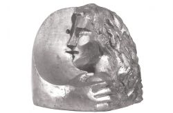 Abbraccio mascherato, 1973-74, bronzo, cm 50 x 50 x 30