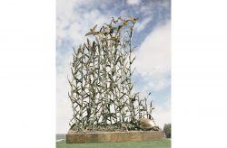 Canneto. Monumento al territorio, 1999, bronzo, cm h 430 x 310 x 130, San Giovanni di Ostellato, Ferrara