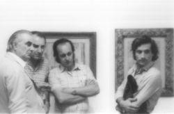 con il critico d'arte Luigi Carluccio, Acqui Terme 1979