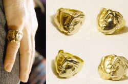 Maschile, anello, oro, mm h 20 x 30 x 16