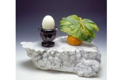 Il mattino del Mandarino, 1992, marmo portoro, alabastro, cm 20 x 20 x 10