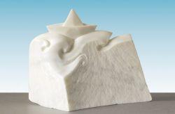 La nave dell'oblio, 2001, marmo bianco di Carrara cm h 38 x 50 x 15