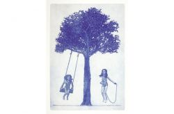 L'albero della felicità, 2014, acquaforte e acquatinta, mm 500 x 350