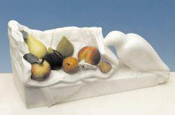 I colori del quotidiano, 2002, marmo bianco di Carrara cm h 25x53x20