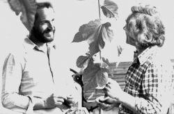 con il poeta Maurizio Pallante, Rivoli 1981