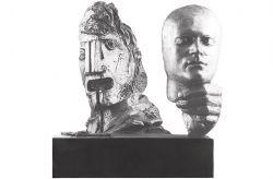 La maschera (a Gilberto Zorio), 1975, bronzo, cm 57 x 65 x 20