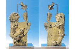 Gioco e spine, 1970 (fronte-retro), bronzo, cm 73 x 36 x 22