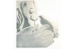 Legami al movimento delle tue ali, 1990, acquaforte e acquatinta, mm 355 x 320
