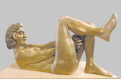 Quel nove maggio millenovecentosettantotto (ad Aldo Moro), 1983, bronzo e legno cm h 80x118x34