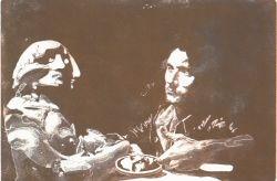 Specchio e granata, 1972, acquaforte e acquatinta, mm 495 x 637