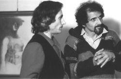 con l'attore Bruno Cirino, Rivoli 1981