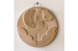 Nel cerchio della mia vita, 2012, terracotta galestro, cm Ø 33, Museo Comunale, Rubiana, Torino