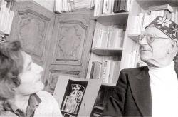 con il poeta Ignazio Buttitta, Rivoli 1983