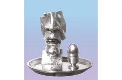 Plat du jour n° 1, 1975, bronzo, cm h 25 x Ø 30