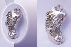 Palese, portachiavi, argento, mm h 52 x 32 x 20
