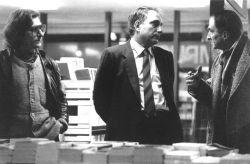 con i critici d'arte Paolo Fossati e Duilio Morosini, Torino 1983