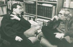 con il pittore e scultore Philip Garel, Rivoli 1990