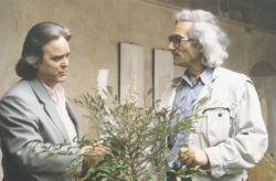 con lo scultore Novello Finotti, Pietrasanta1993