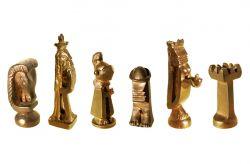 Gli scacchi, scacchi, bronzo, mm h max 108