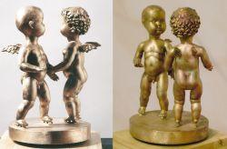 Sulle ali della danza, 2005 bronzo cm h 42x28,5x32