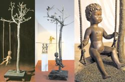 L'albero di Irene, 1992, bronzo cm h 300x120x120