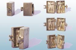 La valigetta, mini-scultura, bronzo, mm h 43 x 87 x 17