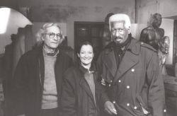 con la fotografa Elsa Mezzano e il musicista jazz Mal Waldron, Rivoli 1996*