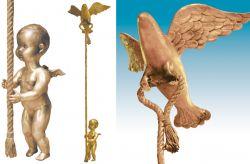 Iniziazione, 2007 (intero e particolari) bronzo cm 200 x 50 x 50