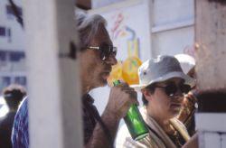 con la scrittrice Carmen Covito, Bagdad, Iraq 1999