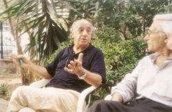 con il poeta Gonzalo Álvarez García, Palermo 2001