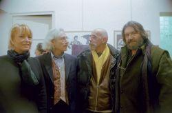 con Luciana Piccardi, il pittore Om Bosser e il giornalista Nevio Boni, Palermo 2001