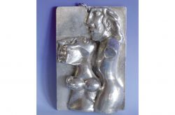 Amanti, medaglione, argento, mm h 95 x 62 x 25