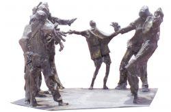 Fucilazione in piazza, 1968, bronzo, cm 60 x 80 x 90, Scuola Media Statale V. Montano, Torino