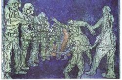 Fucilazione in piazza, 1964, acquaforte e acquatinta, mm 250 x 352