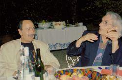 con lo scrittore Ferdinando Albertazzi, Torre Canavese 2002